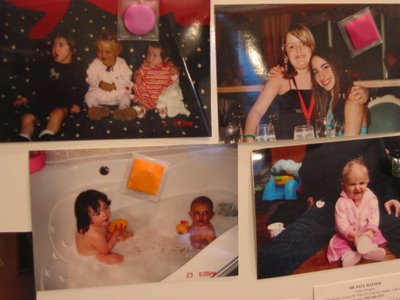 Pictures on a fridge