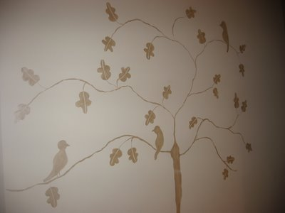 Mural in the kitchen - three little birds