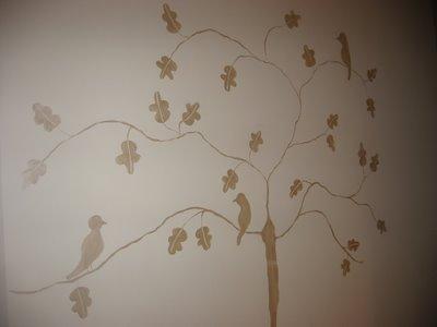 Mural in the kitchen - three little birds