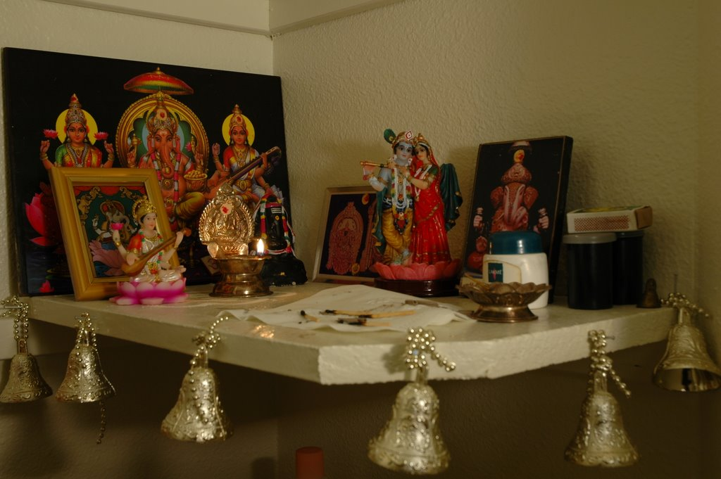 This is on usha s request some photos of my puja room with our new