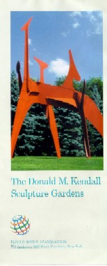 Donald M. Kendall Sculpture Gardens brochure and map