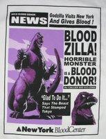 'Bloodzilla' blood donation t-shirt