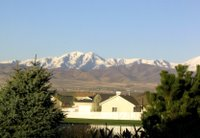 View of the mountains from Salt Lake City