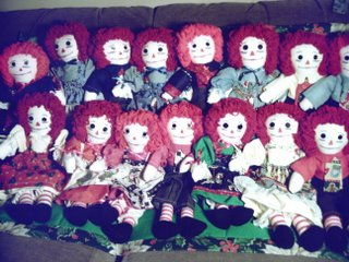 Christmas Raggedy Ann & Andy Doll and Quilt Sets