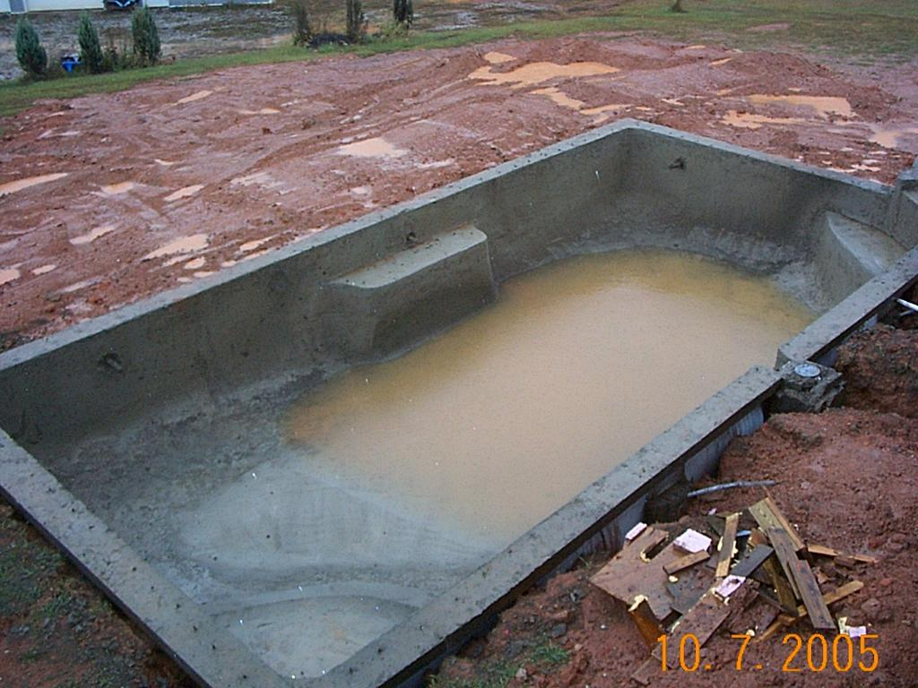 Do It Yourself Build An Inground Swimming Pool Holds Water