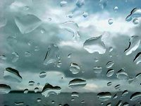 rain on windshield