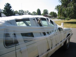 car toilet papered