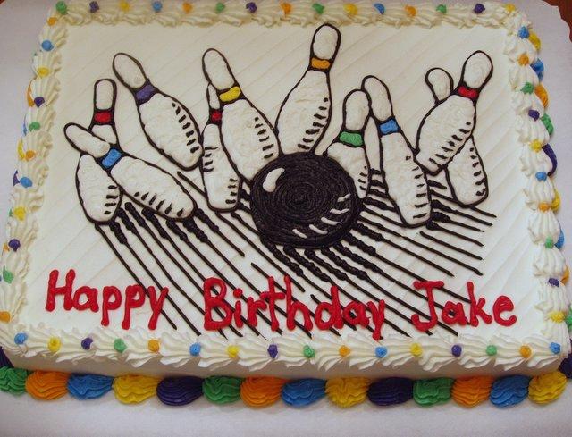 Bowling Cake Birthday Sheet Cake