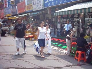 eine Gasse im Markt