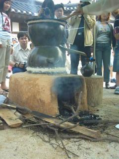 Steinofen für Soju