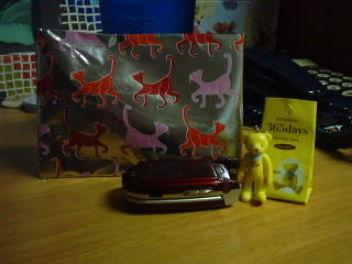 gelber Bär von Christine und Ninas Katzenpapier