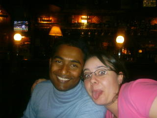 Mahbub and me in bar