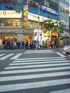diagonal pedestrian crossing