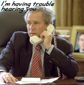 Bush having trouble