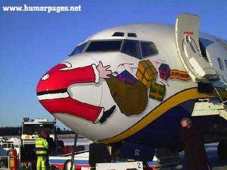 Santa plane