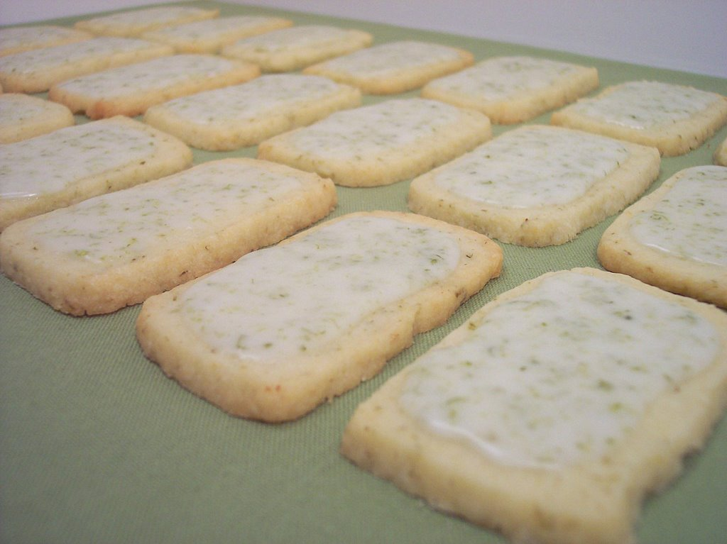 Lime-Glazed Cookies(Adapted from MS Baking Handbook)