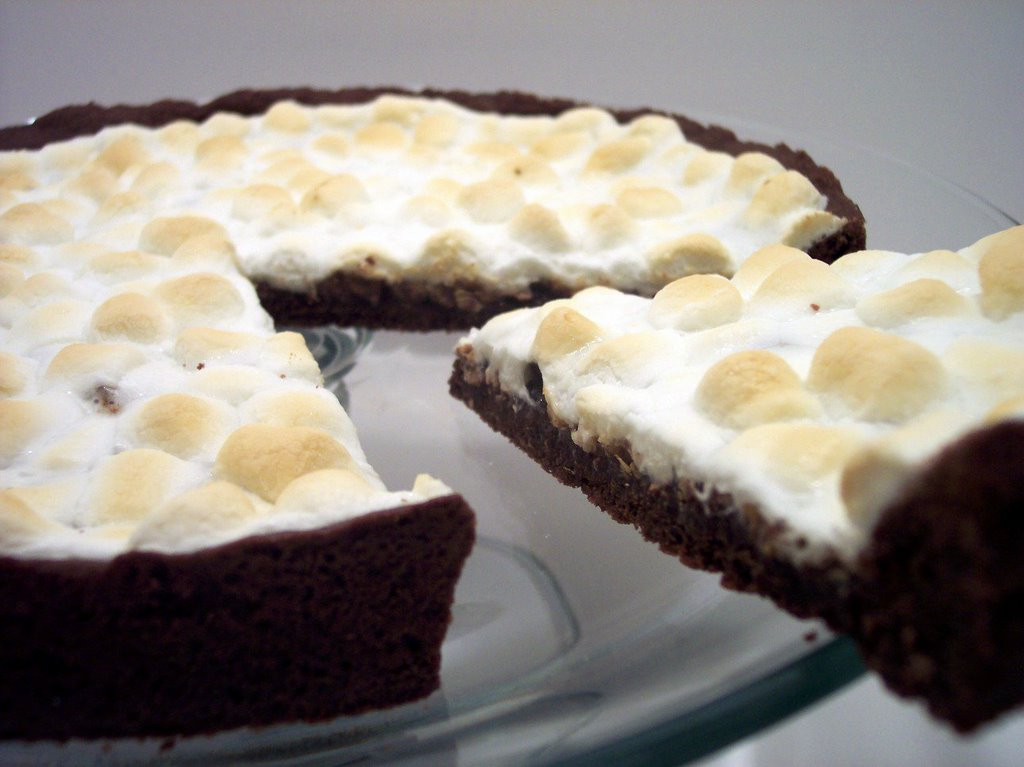 Deep Dish Chocolate-Peanut Butter Marshmallow Pizza(Adapted from One ...