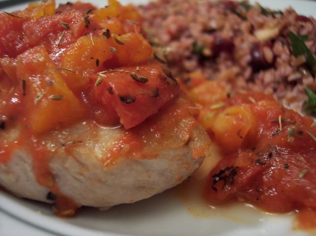 Culinary in the Desert: Pork Chops with Apricot-Tomato Chutney