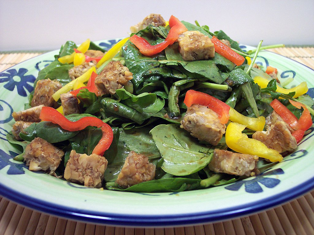 Culinary in the Desert: Green Salad with Grilled Tempeh ...