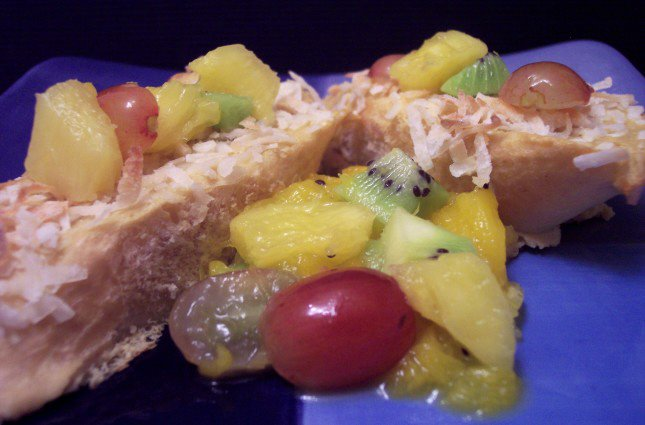 french toast with tropical fruit compote adapted from cl compote ...