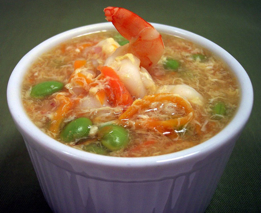 Culinary in the Desert Shrimp and Egg Flower Soup