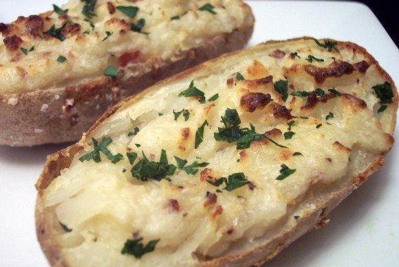 Culinary in the Desert: Blue Cheese and Bacon Twice-Baked Potatoes