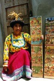 Artesana de Sarhua: Tarcila Felices