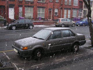 Snow in Liverpool