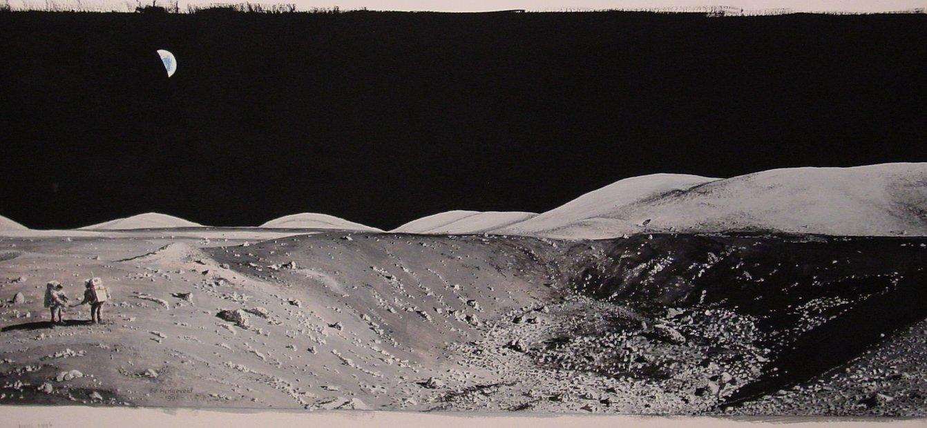 panoramic moon earth-#2