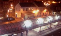La gare de Braine l'alleud de nuit