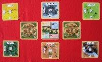 Úvodní rozestavení vesnic s krajinami jednoho hráče