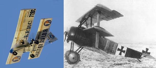 avion con varias alas