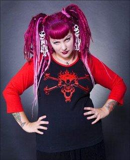 red goth girl