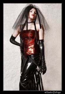 Sindel Chaos in Gothic wedding dress