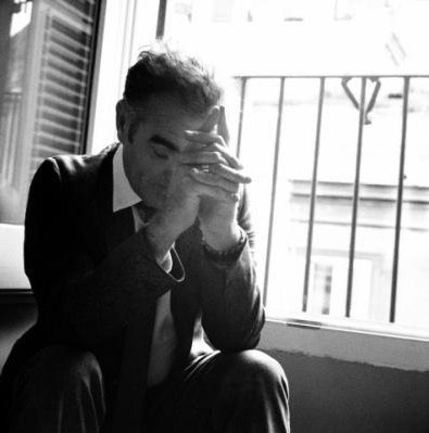 Image result for morrissey sat hunched