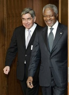 Oscar Arias and Kofi Annan