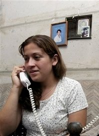 Yetty Raquel Ibarra, 23, makes funeral arrangements for her mother Milena Mora Vargas Delvalle, of Costa Rica, who was killed when concrete ceiling panels fell onto her car in one of Boston's Big Dig tunnels late Monday night, at her home in Coronado, Costa Rica, Thursday, July 13 , 2006. Ibarra said that her family was awaiting the return of her mother's body so that she could be buried in her native Costa Rica over the weekend. (AP Photo/Kent Gilbert)