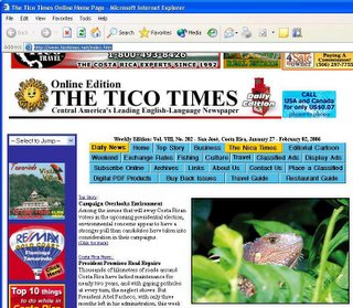 By Monday noon the Tico Times had its normal look once again.