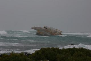 Shipwreck off Cape Agulhas