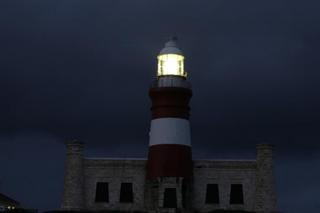 Cape Agulhas lighthouse at nightime