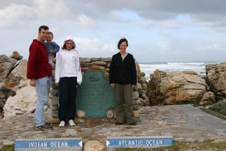 Windy but not wet at Cape Agulhas