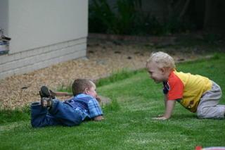 Joel & Matthew playing