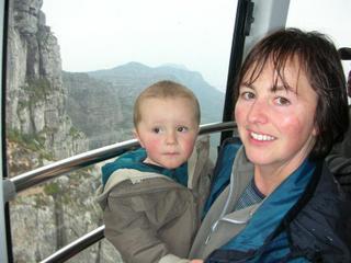 Joel & Paula on the way up Table Mountain