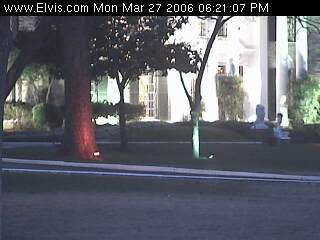 Webcam Shot Of The Graceland Mansion Front Lawn