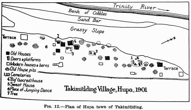 Fig. 12: Plan of Hupa town of Takimitlding.