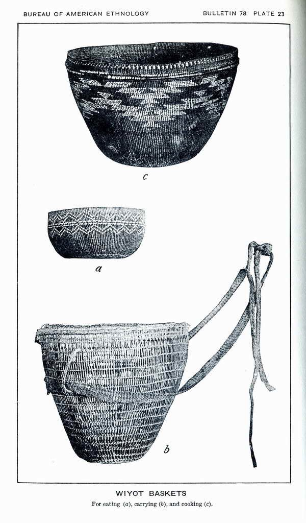 Plate 23. Wiyot baskets, for eating; carrying; and cooking.