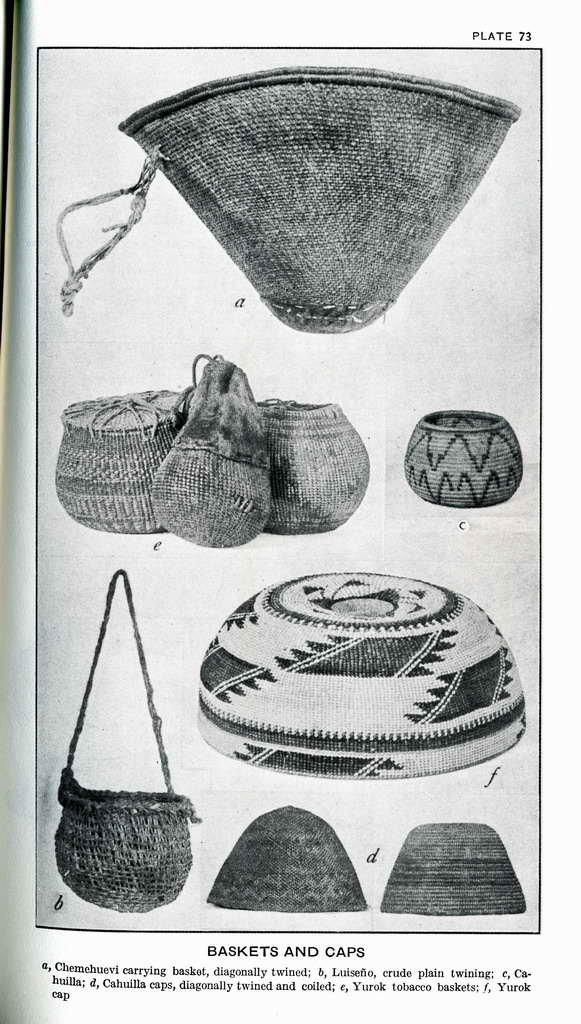 Plate 73. Yurok tobacco baskets.