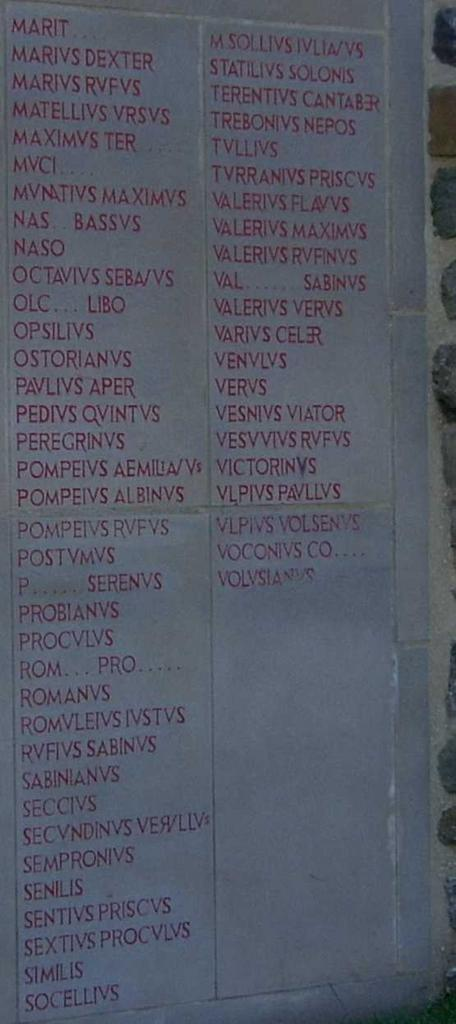 Second portion of plaque commemorating the names of the builders of Wallsend portion of Hadrian's Wall (photographer: Phil Kennedy)