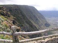 Pared del antiguo cráter desde el mirador