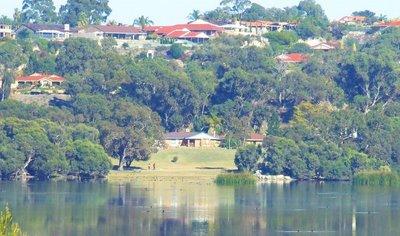 Houses acorss Lake Joondalup